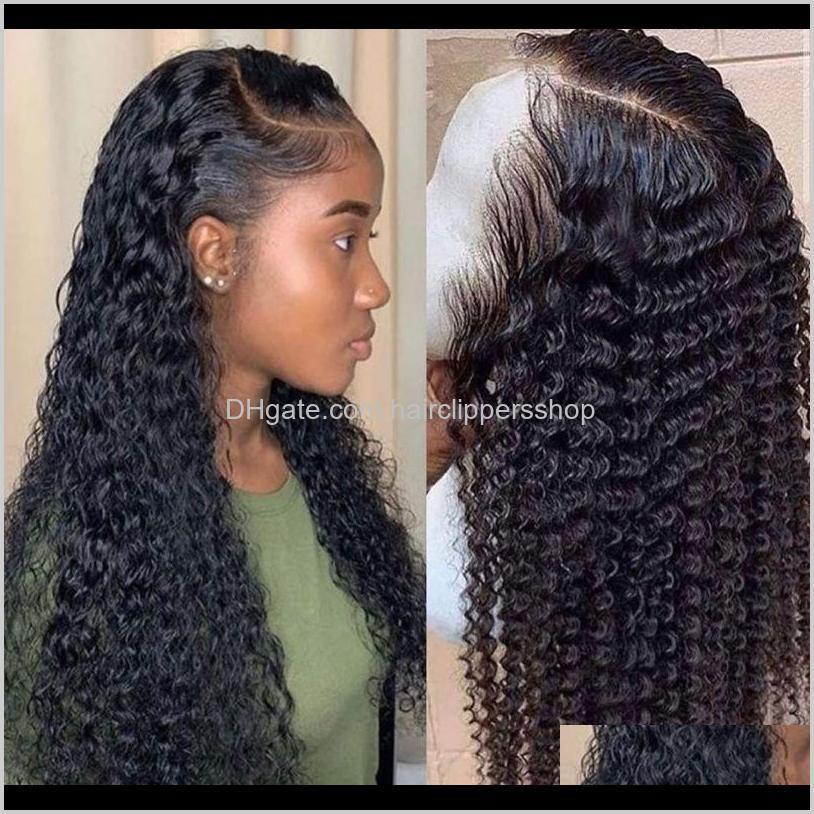 موجة المياه مجعد الشعر الأمامي الشعر للنساء السود بوب طويلة عميق أمامي البرازيلي الرطب والمائج HD Fullg99 ZCUOJ KY2AP