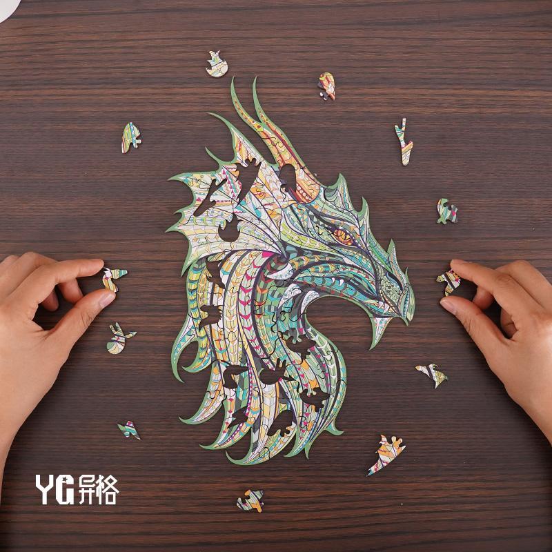 Banlv Puzzle Dragon King-Qiao Ge Puzzle Dragon King High Croundy Vult Puzzle Деревянная игрушка Декомпрессионная Освобождение Заложенное Творческое Веселье бесплатно