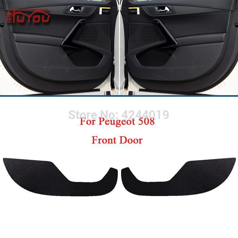Para 508 carro dentro da tampa da porta Proteção de rascunho anti-kick almofadas decorativas adesivo 4 pcs outros acessórios interiores