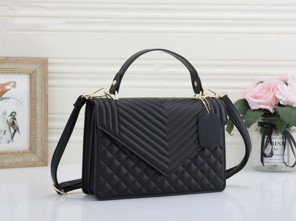 Moda de alta calidad para mujer bolsas de hombro Paquete de pecho de cuero Lady Tote Handbags Purso presbergioso Messenger Bag Crossbody