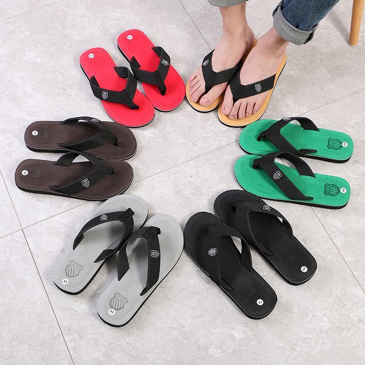 Hombres Flip Flip Flops Playa Sandalias Antideslizante Casual Calzado plano Zapatillas de alta calidad