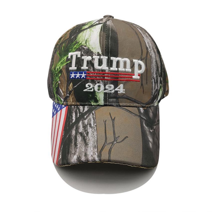 Kamuflaj Trump 2024 Ball Şapka Beyzbol Şapkası ABD Bayrağı Maga Güneşlik Parti Şapka ZZA3303