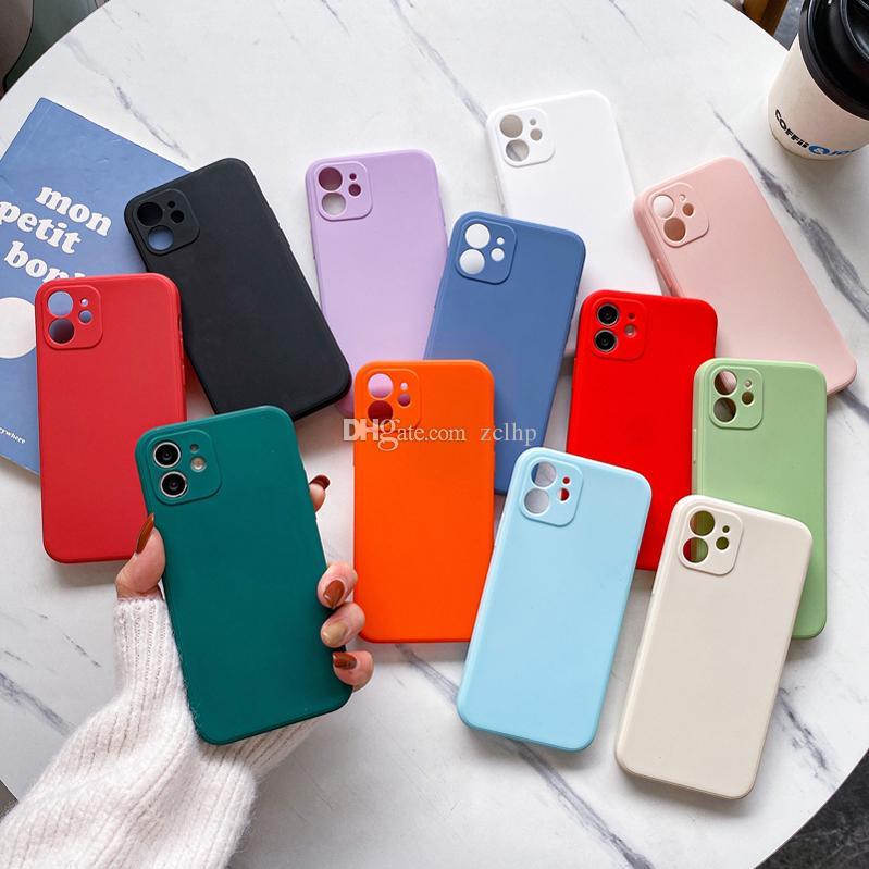 Capa de telefone de gota à prova drop-à prova de furo de TPU fosed para iphone 12 pro max telefone para iPhone 11
