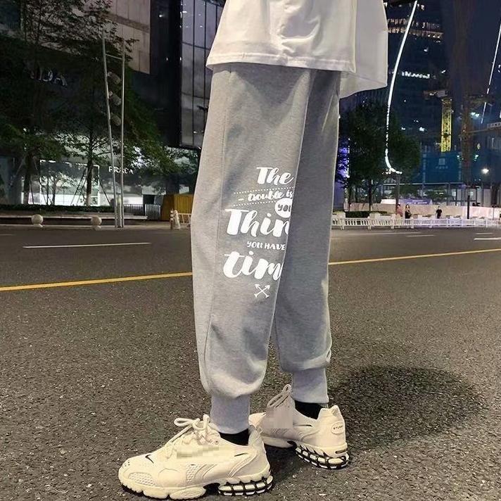 Summer Men Pants Korea Style High Street Cool Letter Big Size 7XL Preppy Loose Elasticity Stretch Men's