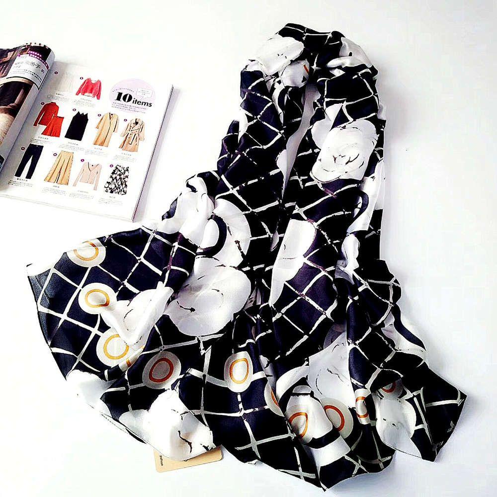عالية الجودة تصميم الحرير المرأة الشتاء اللون الكوري جديد مطابقة وشاح دافئ الغرض المزدوج الربيع والخريف شال شال