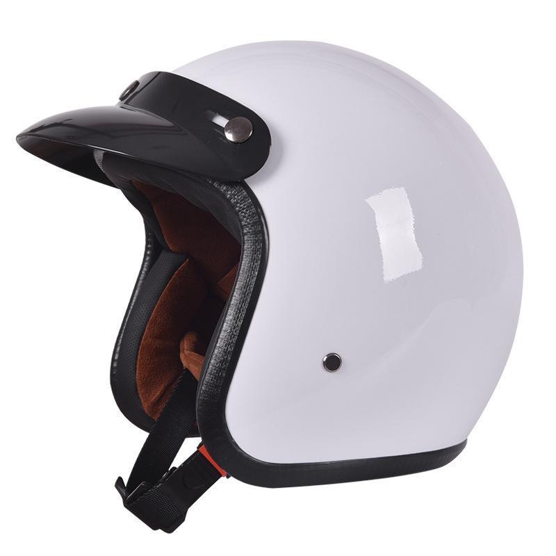 Motorcycle Helmets Open Face 3/4 Vintage Capacete Safety Motociclistas Casco Retro Personality Electric Battery Car Half Helmet Unisex