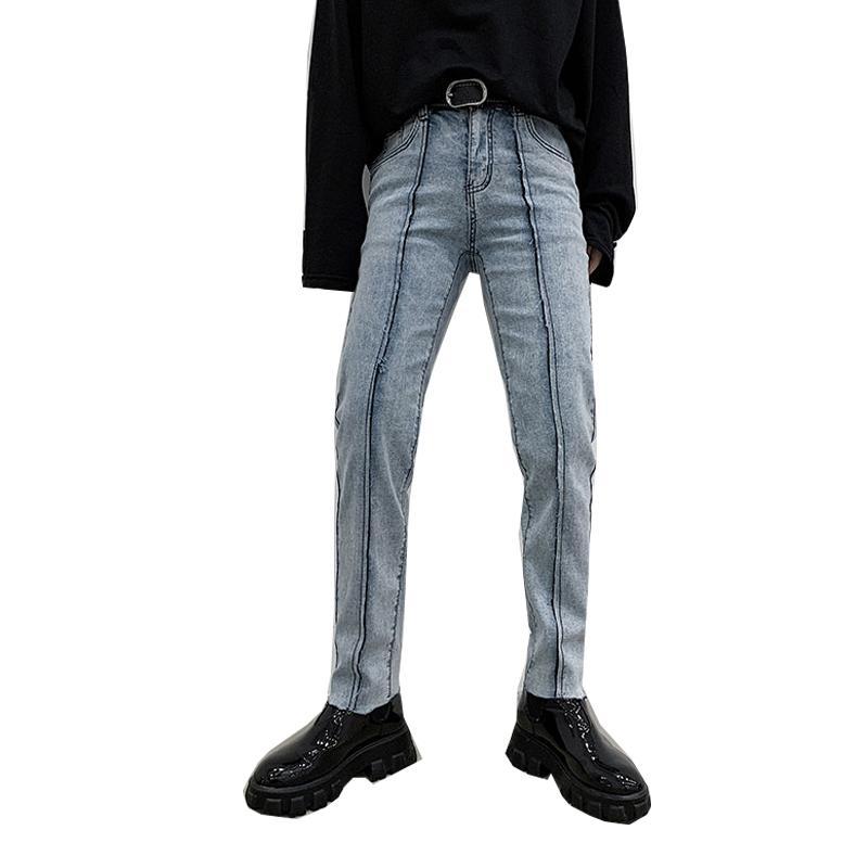 Jeans masculinos flare japonês e moda coreana micro-elástica flared outono inverno