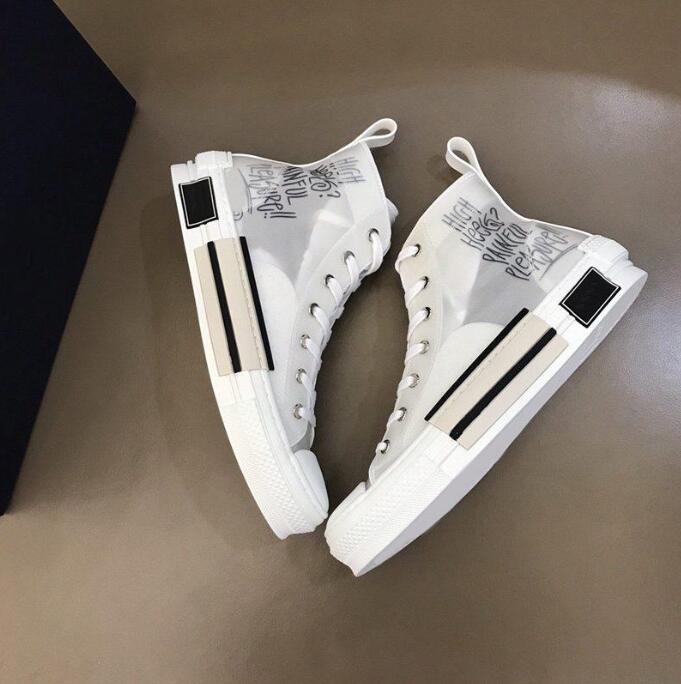 40٪ خصم 2021 مصمم فاخر أحذية أزياء رياضية مستفيد الجلود الفنية عالية منخفضة الزهور العلامة التجارية الأحذية التطريز تكنولوجيا ترتيب مزيج حجم 35-47