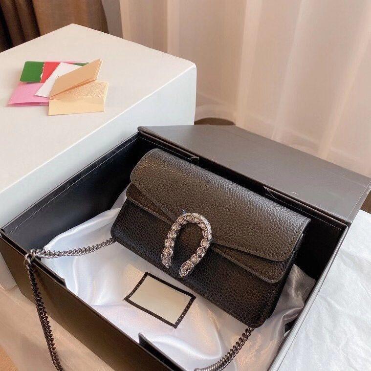 مصمم فاخر أزياء جلدية صغيرة السيدات حقيبة الكتف المحفظة الكلاسيكية رسائل الماس حقيبة