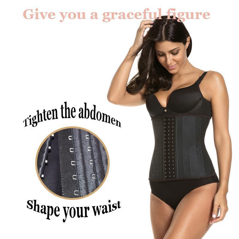 الخصر قطار cincher مشد حزام الجسم المشكل ملابس داخلية اللباس اللاتكس 25 سندات الصلب ل postpartum النساء الحوامل
