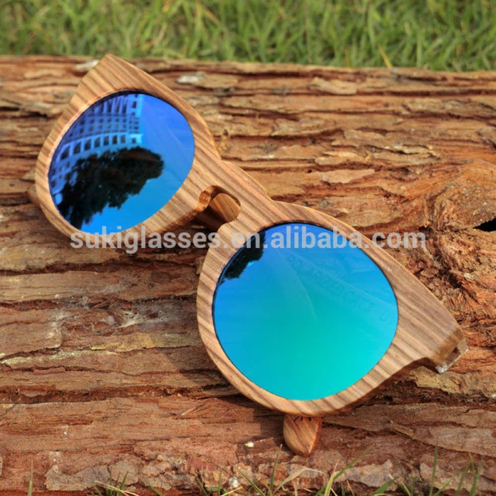 Gafas de sol de madera de alta calidad de gafas de gafas de madera gafas de sol de madera