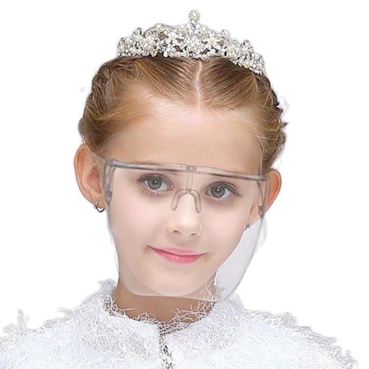2021 Девушка для мальчиков FaceShield Защитные очки Очки защитные очки Анти-распылительная маска Защитное очки для очков для детей