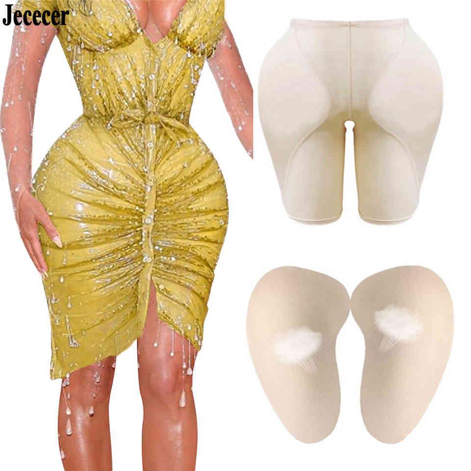 Mulheres Sexy Controle Calcinha Butting Lifter Plus Hip Pad Falso Nádega Espuma Acolchoado Underpants Feminino Shapewear Humorglass Body Shapers 210326