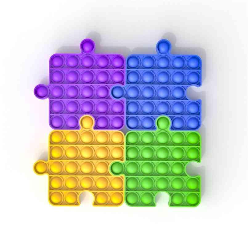 2021 Building Block Forma Push Pop Bubble Pop Bubble Fidget Sensory Toy Autism NECESIONES ESPECIALES NECESIDADES DE ESFICIAL DEL ANTERIOR juego Squeeze Funny Toys regalos G20104