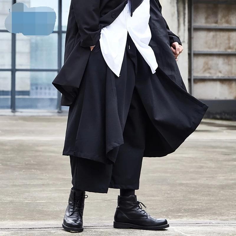원래의 조수 브랜드 디자인 넓은 바지 바지 남성 캐주얼 어두운 봄과 여름 9 포인트 쿼트