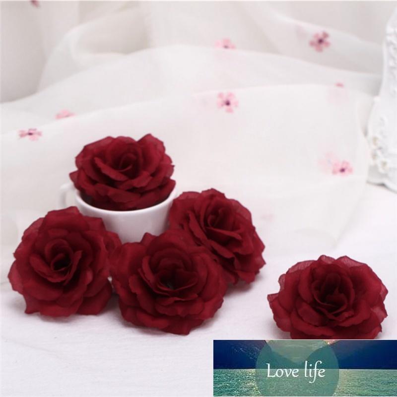 5 adet 8 cm Yapay Çiçekler Ipek Güller Kafaları Toplu Çiçekler Düğün Parti Dekorasyon için Ev DIY Aksesuarları