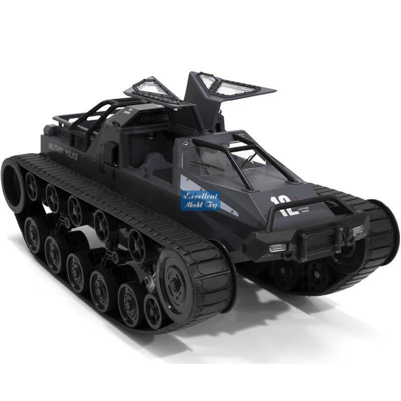 JJRC Q79 Fernbedienung 1:12 Raupen-Tankauto-Junge-Spielzeug, 12km / h, Drift-Wagen, Möwenflügeltür, 30 ° -klettern, 360 ° drehen, LED-Leuchten, Weihnachtskindergeschenk, 2-1