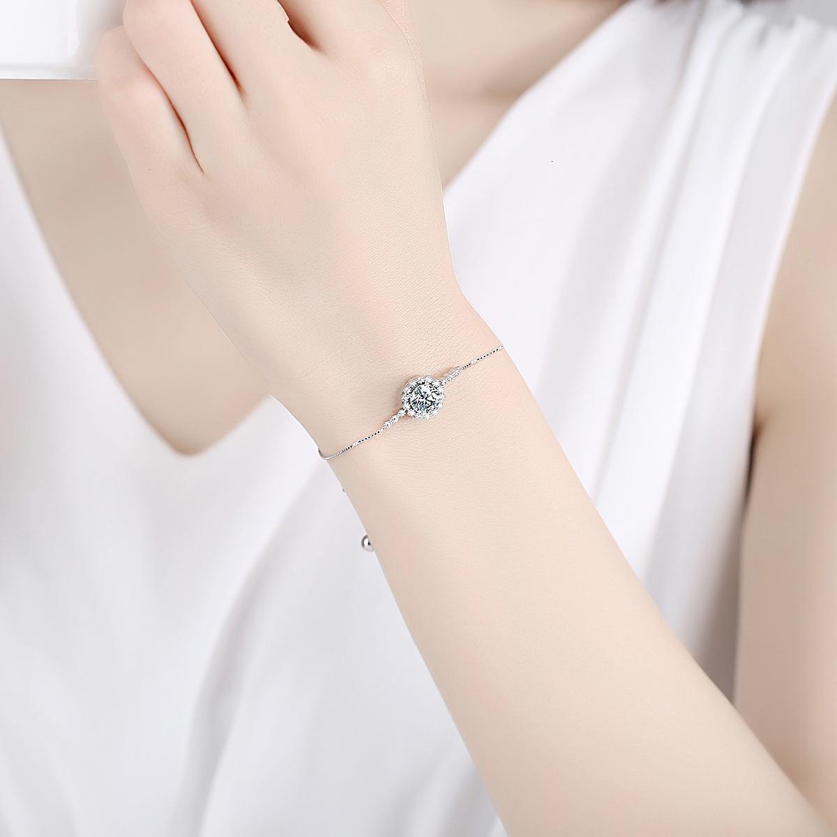 Bracelet Femmes S925 Diamant Pure pour Silver Mosang