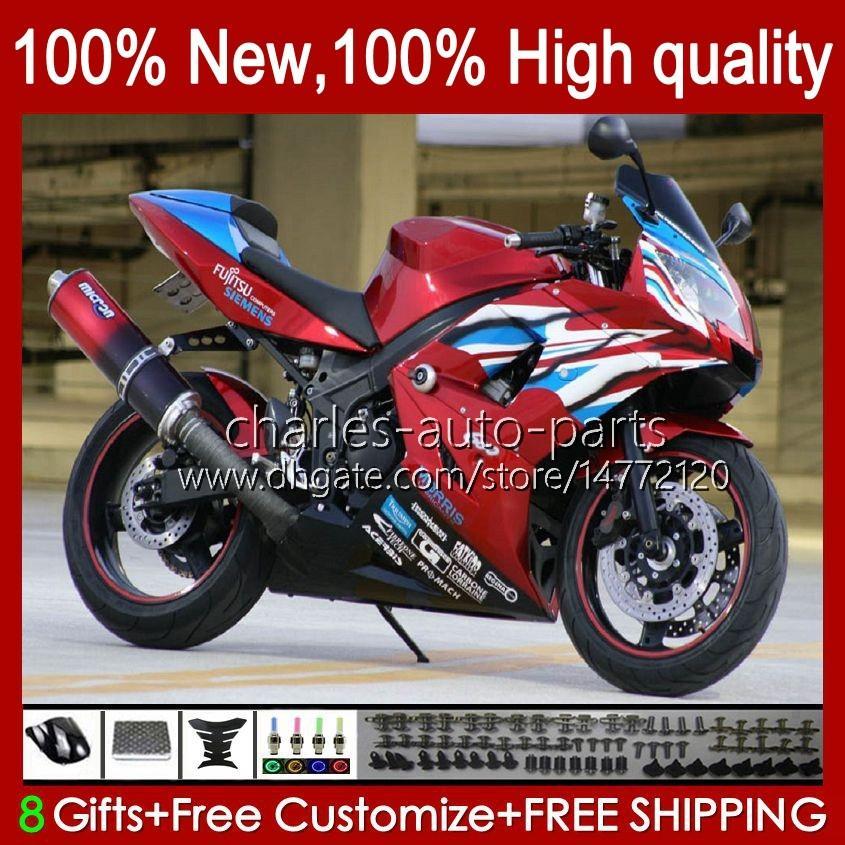 Kit bodywork per trionfo vino rosso vendita daytona 600 650 cc daytona650 02-05 Cowling 104hc.26 Daytona600 2002 2003 2004 2005 Bodys Daytona 600 02 03 04 05 Full Fairings