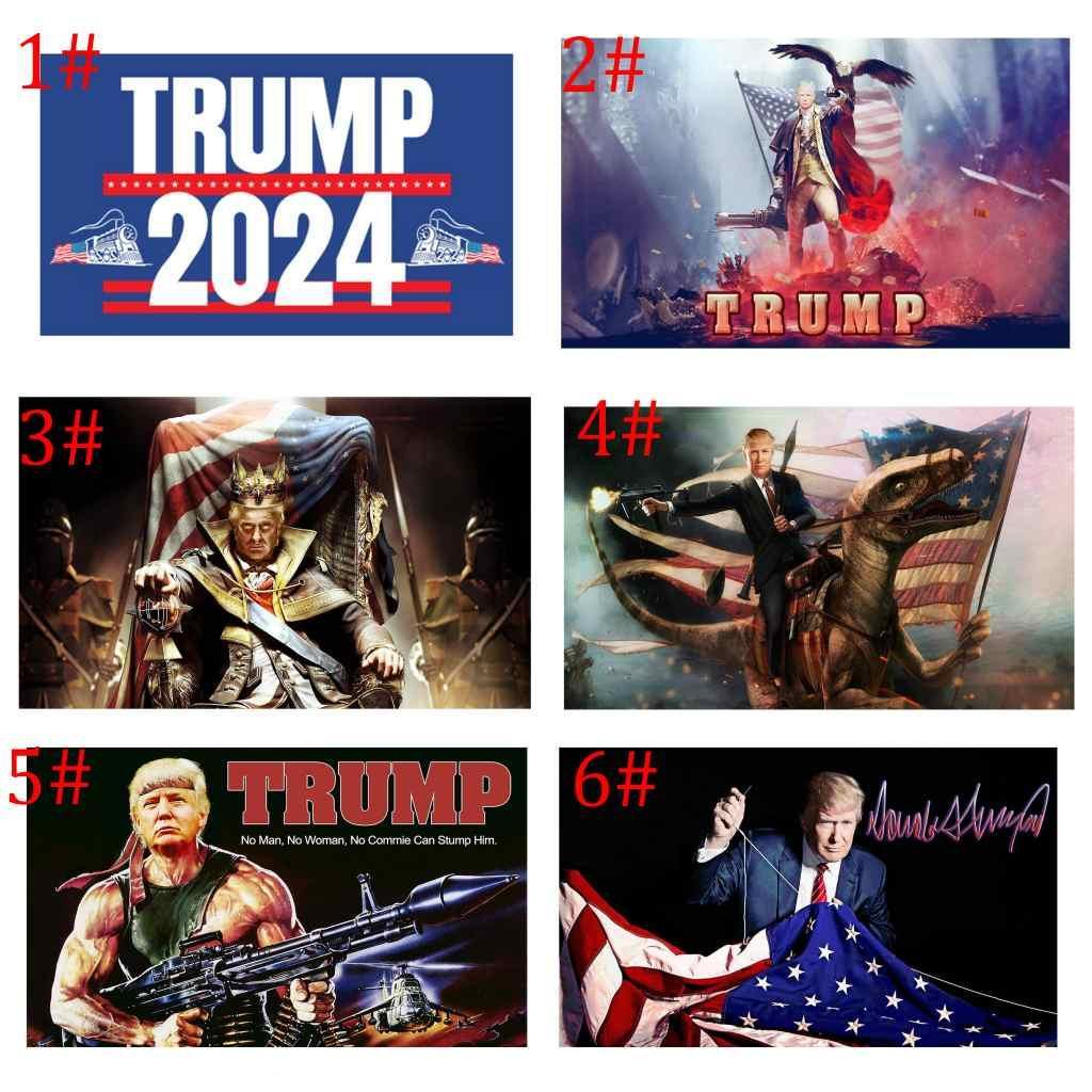 2024 Trump Tren Bayrağı 90 * 150 cm ABD Başkanlık Seçimi Trump Afiş Bayrakları ZZA3317