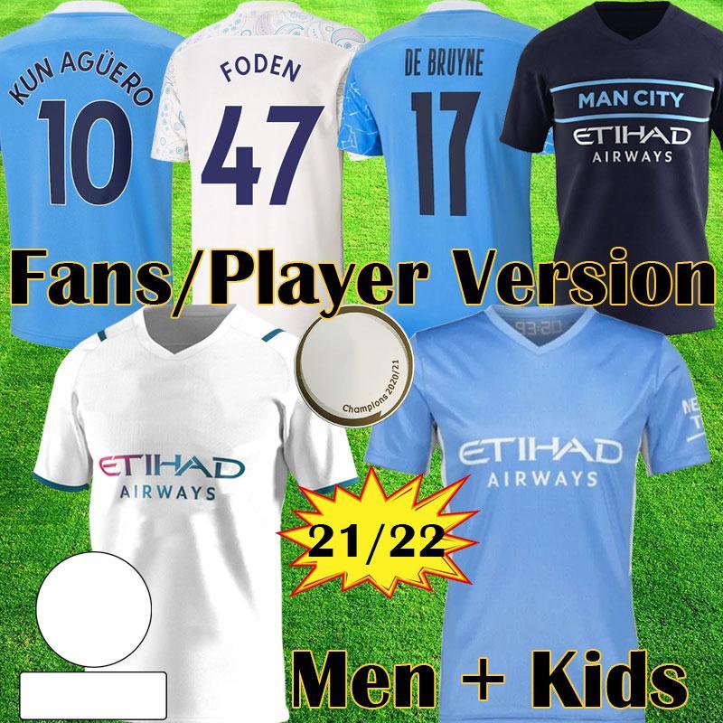 2021 2022 الاسترليني دي بروين فودن 20 21 22 balr المشجعين كرة القدم جيرسي مدينة لاعب نسخة كرة القدم قميص الرجل الاطفال كيت المعدات