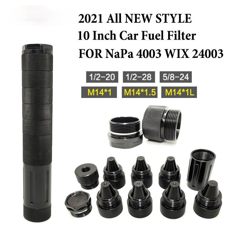 الألومنيوم 10 بوصة 1 / 2x28 فلتر الوقود فخ المذيبات المعيارية ل NAPA 4003 WIX 24003 محول 5-8x24