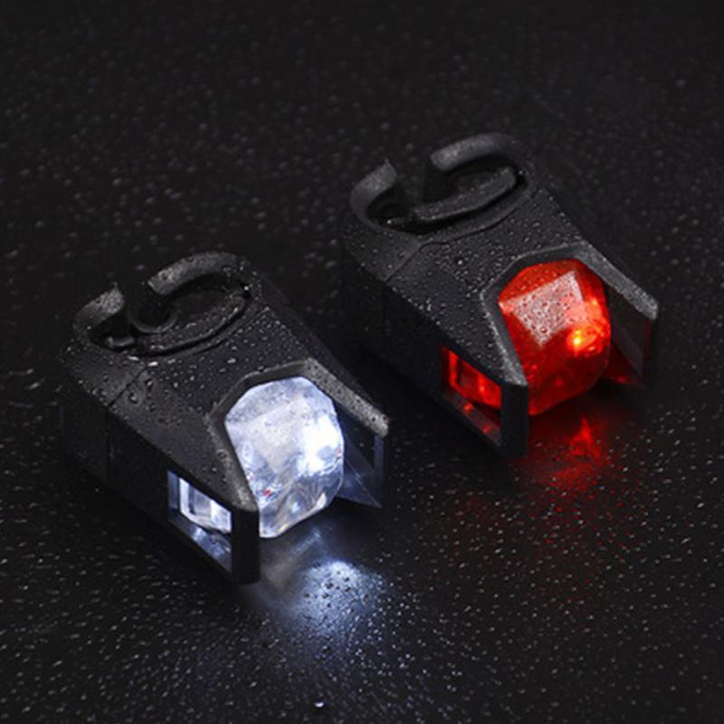 Bisiklet Işıkları 1 Çift Esnek Uyarı Lambası Kullanımlık LED Güvenlik Arka Açık Havada Kolay Kurulum Gece Sürme Bisiklet Taillight Faydalı