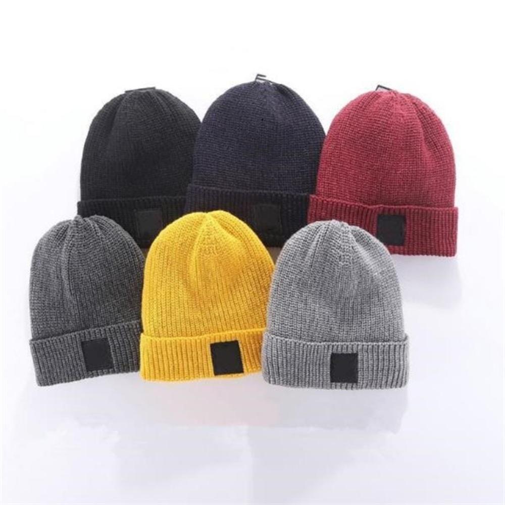 Stone Unisex Spring Winter Hats for Men women Knitted Beanie Wool Hat Man Knit Bonnet High quality hip-hop Thicken Warm Cap