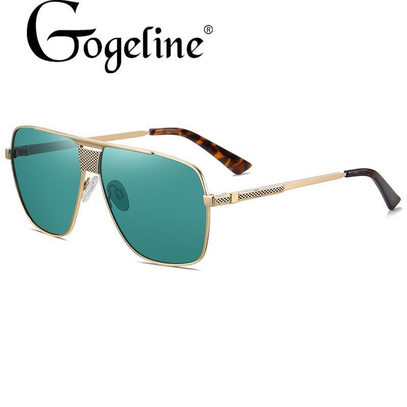 Mode Big Square Polarized Lunettes de soleil pour femmes Hommes Haute Qualité Rétro Cadre en métal Sun Lunettes Vintage Gafas Oculos