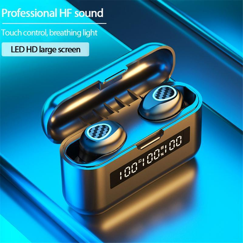 Binatural Stereo Wireless Earbud Bluetooth 5.1 Réduction du bruit Écouteur Double microphone pour Headphone Headphone Sport universel Android EA