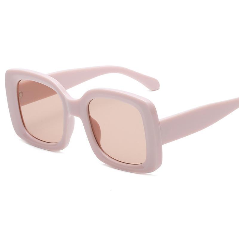 Lunettes de soleil 2021 Dernière personnalité classique rétro mode branchée grosse rectangle pour femme exquise dames carré lunettes de soleil