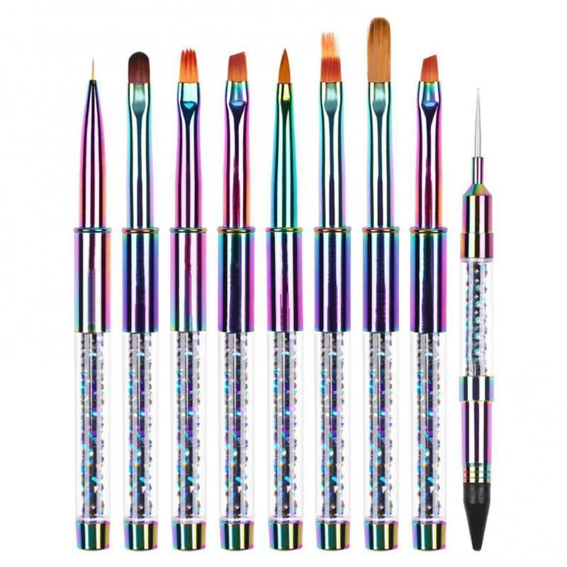 Nail Art Kits 1 pcs deslumbrante Dupla Dotting Potting Pen Crystal Beads Lidar com Strass Prisionos Picker Cera Lápis Manicure Ferramenta