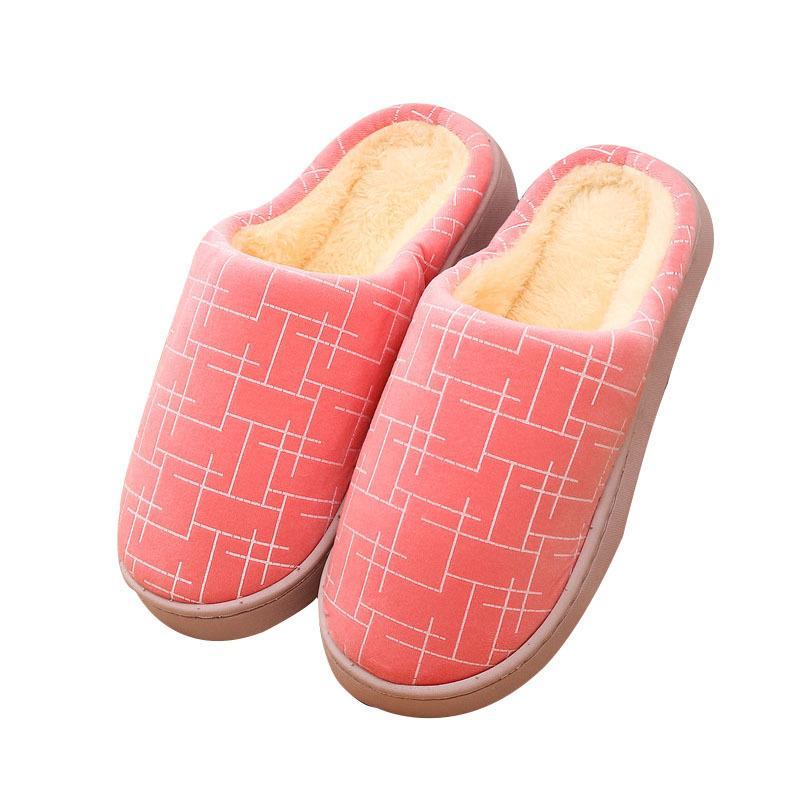 Zapatillas para mujer Slipper Slipper Slippers de algodón calientes zapatos de algodón de las mujeres zapatillas de interior zapatos de deslizamiento para casa de dormitorio