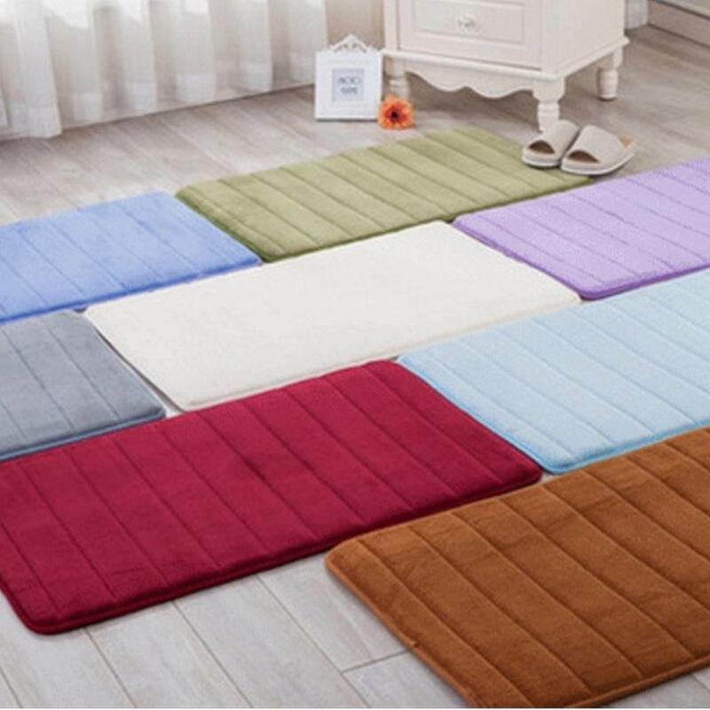 Absorvente não deslizante de banho esteira lavável memória espuma tapete de segurança home tapete pad para banheiro decoração de absorção de água 697 R2