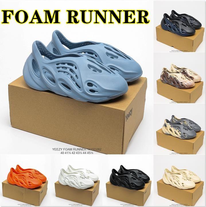 Diseñadores de alta calidad diapositivas flip chanclas zapatillas sandalias kanye espuma corredor arena triple negro hueso blanco resina diapositiva sandalia para hombre oeste zapatilla hombres mujer pantalufle