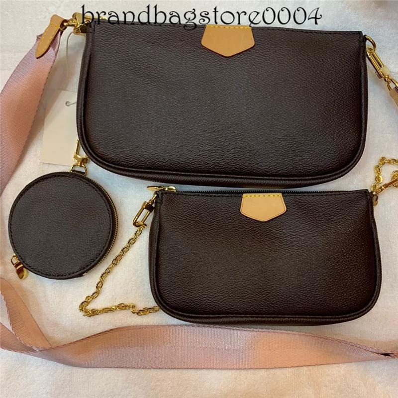 Hasp Tasarımcı kadın ünlü marka moda çantaları üç retro deri mektup lüks omuz çantası pvc cüzdan ve çanta