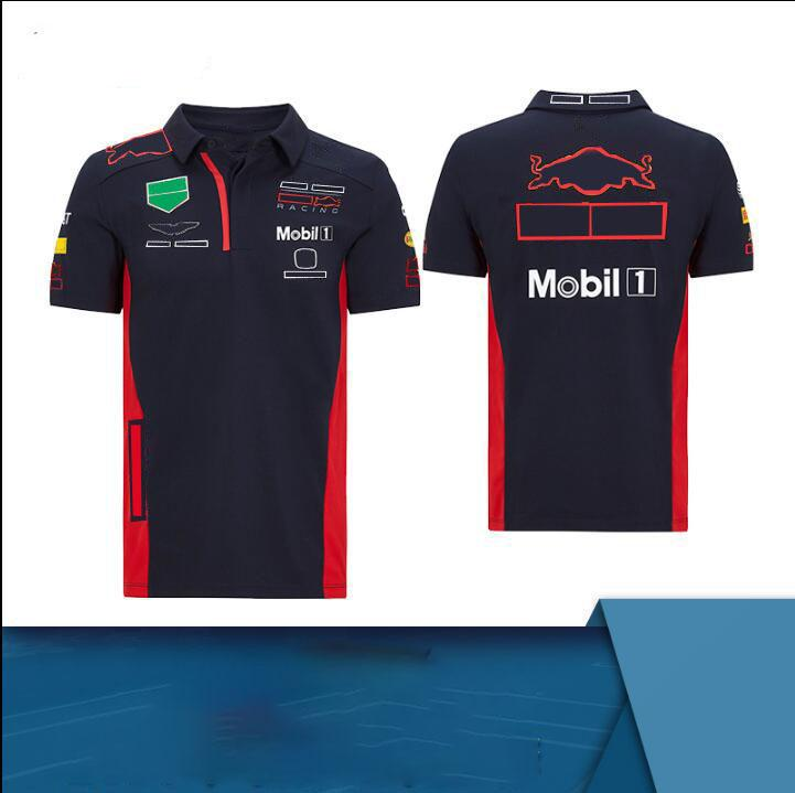 F1 Team Racing Polo Jersey Polyester Polyester Quick-Séchage Verso T-shirt Même Style Personnalisation