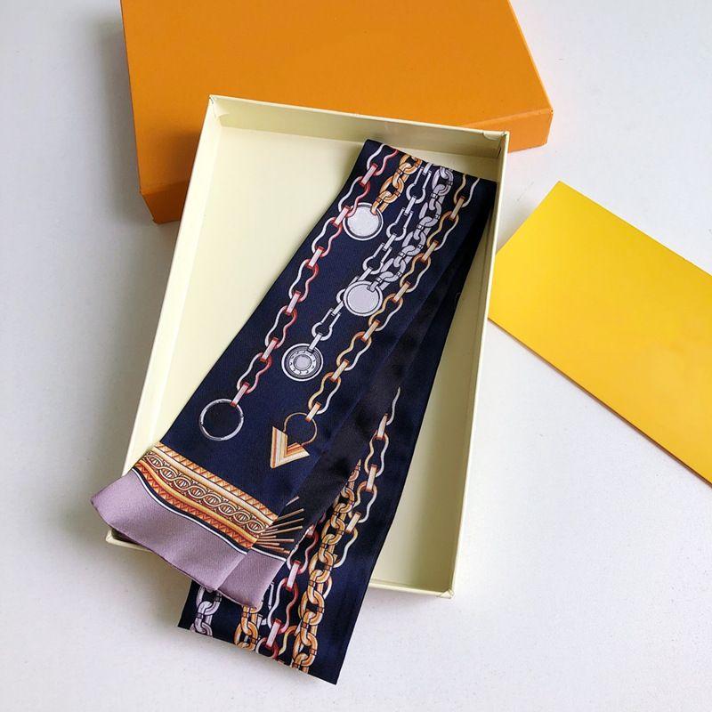 Designer di lusso Design Sciarpa della donna, la lettera di moda copia Sciarpe di borsa, cravatte, fasci capelli, 100% Materiale di seta Involucri Dimensioni: 8 * 120