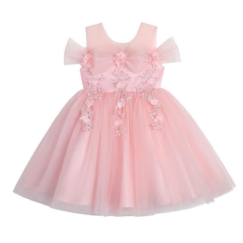 The Children's Princess Summer Of 2021 Bitter Fleabane Gauze Wedding Flower Girl Dress Kid's Girl's Party Dresses