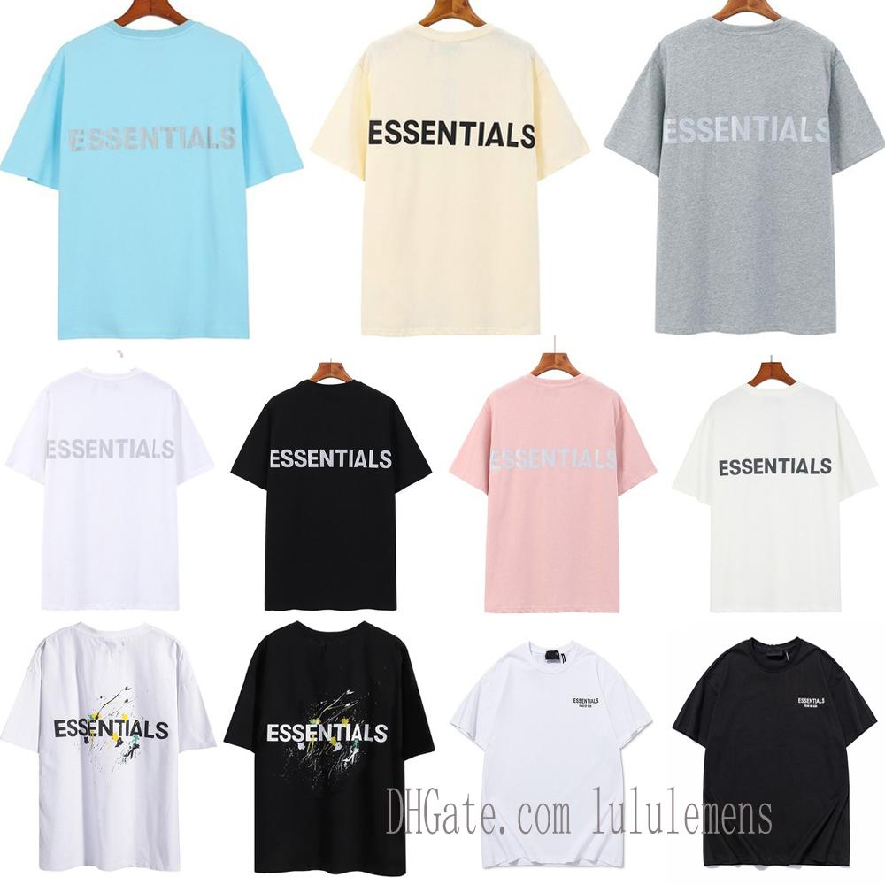 2021 반사 형 남성과 여자 티셔츠 레저 티 스케이트 보드 트렌드 하나님 안개 필수 티셔츠 여성 디자이너 망 짧은 소매 01