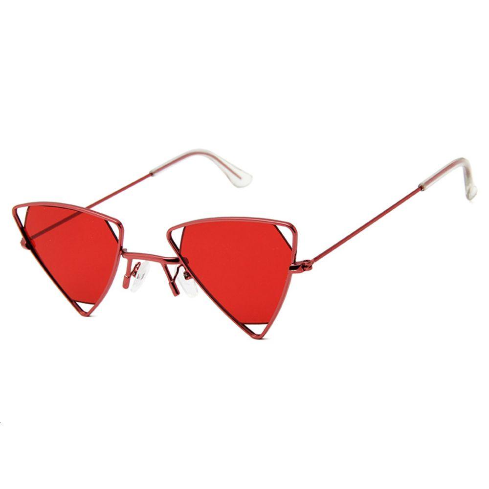 2021trendy pequeno quadro sunglass moda triângulo metal óculos de sol personalizado vidro steampunk sol