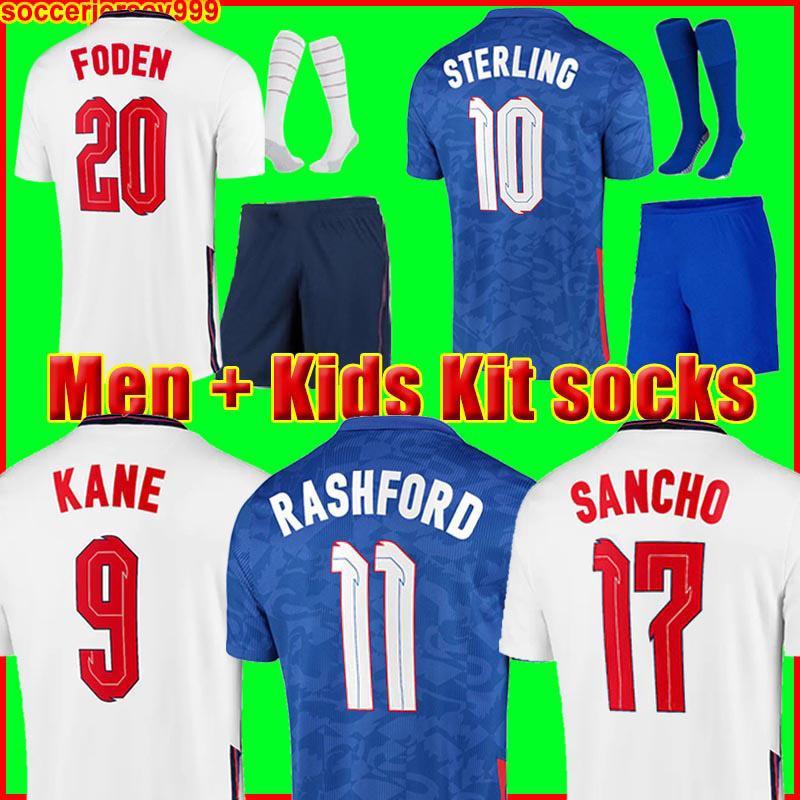 soccer jersey 2020 2022 KANE STERLING RASHFORD SANCHO GREALISH MOUNT FODEN HENDERSON MAGUIRE england 20 22 national football shirt men + kids kit sets uniforms