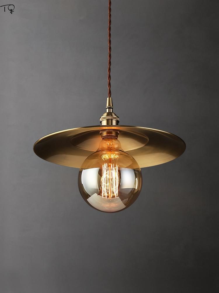Pendant Lamps Nordic Luxury Retro Straw Hat Lights LED E27 Individual Brass Copper Hanging Lamp Living Room Restaurant Bar Cafe Loft