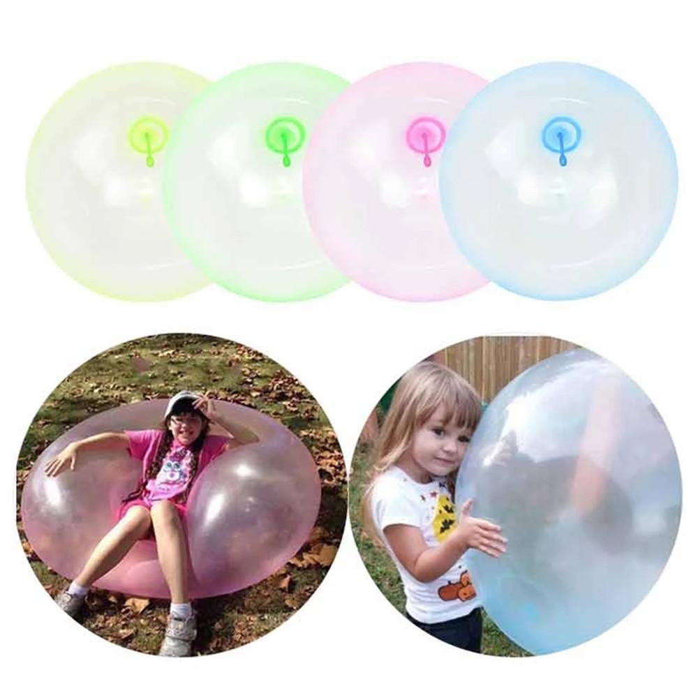 120cm Super Size Outdoor Summer Air Water Bubble Ball Blow Up Beach Yard Balloon Toy Party Game Inflatable Toys For Children Gifts