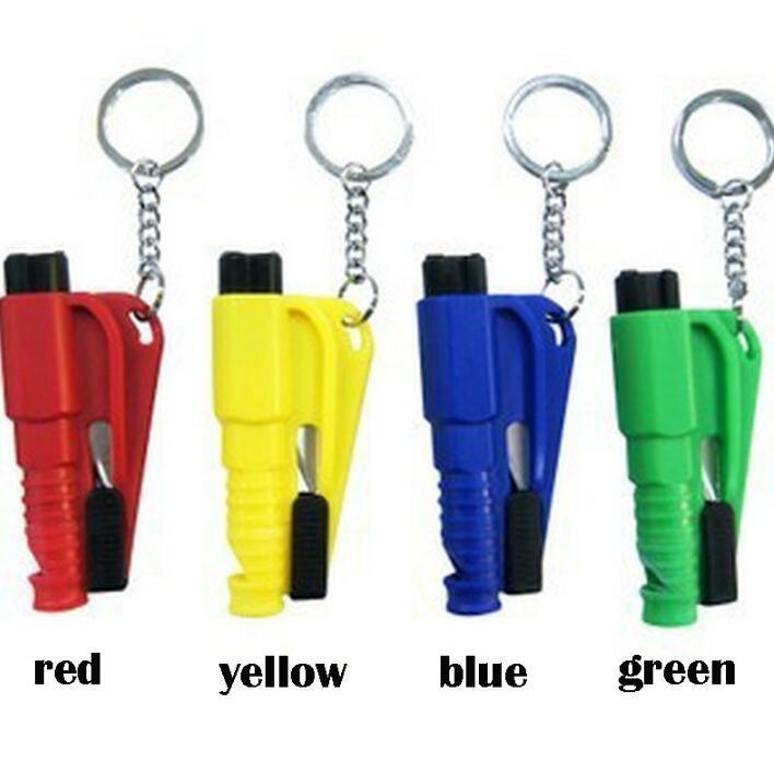 Mini Safety Hammer Voiture Sauvage Sauvetage Hammer Fenêtre Emportage Porte-clés Porte-clés Verre d'urgence brisée