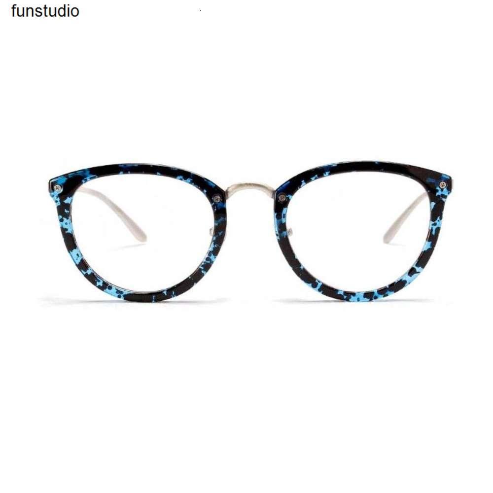 Óculos retrô dos homens femininos na moda gato olho no chifre óculos declaração declaração Balck espetáculos limpar lente cozmo unisex