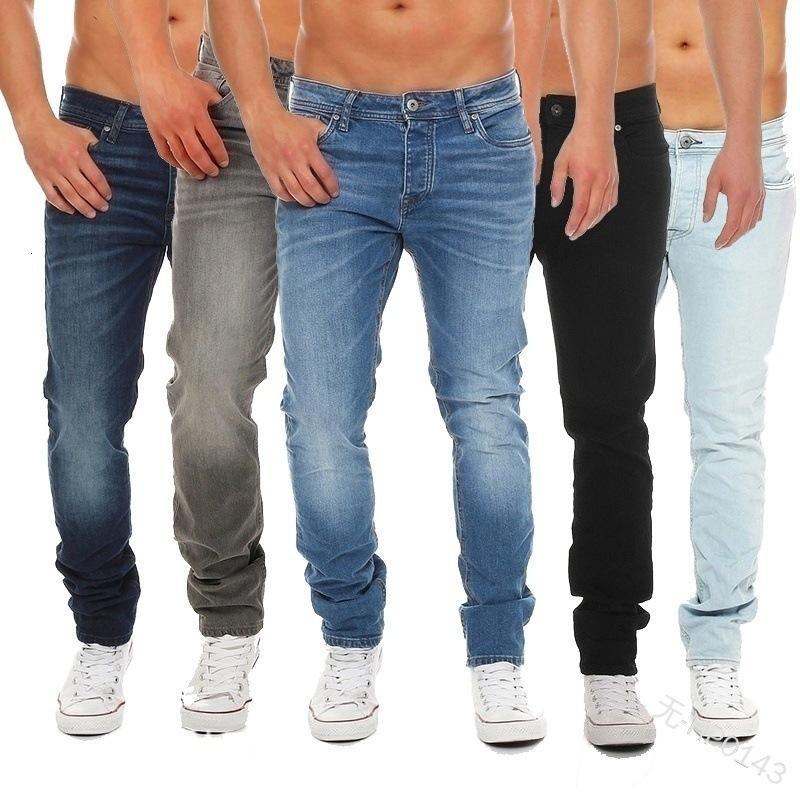 2021 Jeans Casual Hombres Mid Cintura Jeans rectos HP0143