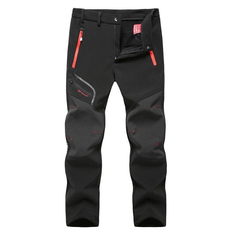 Men's Pants Waterproof Tactical Softshell Mens Fleece Thick Warm Winter Autumn Trousers Male Velvet Jogger Zipper Pocket 2021 Clothing