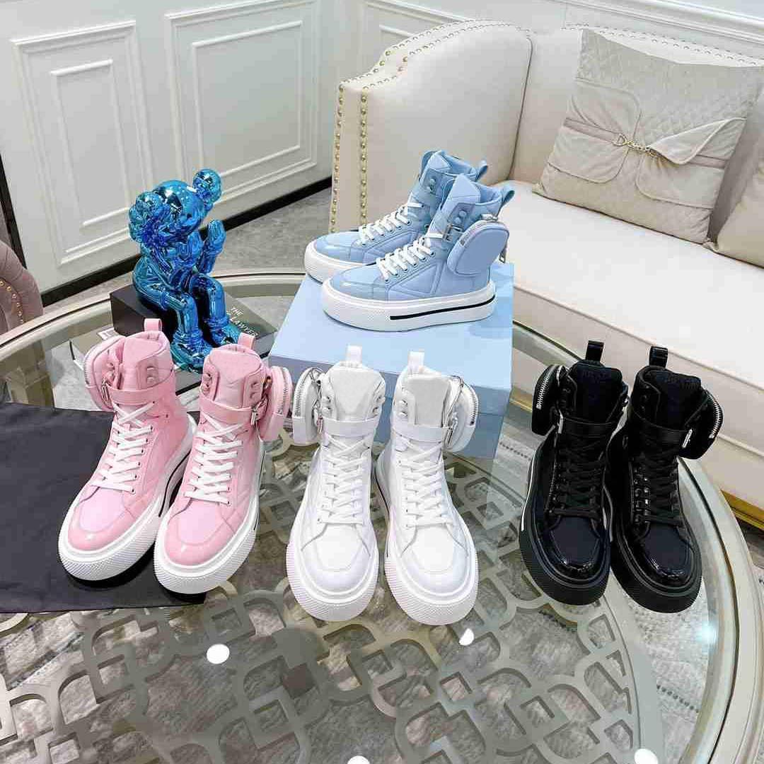 Дизайнерские кроссовки наклонные холст обувь Высокий низкий мужской кроссовки кошельки кожаные женщины повседневная высокое качество роскоши тренеров размером 35-45