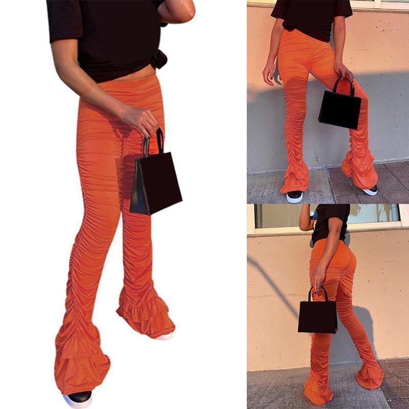 Pantilhas mulheres calças calças mulheres sexy lace up longo calça casual esportivo empilhado casual calças calças
